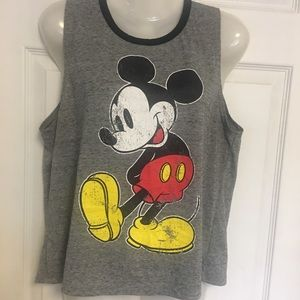 Disney Distressed Mickey Mouse Graphic Tank Top
